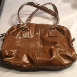 Nice medium brown faux leather purse
